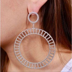 Marissa Silver Statement Earrings